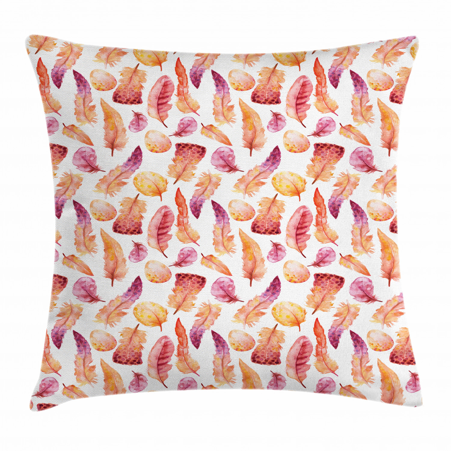 Ethnic Feather Throw Pillow Cases Cushion Covers Home Decor 8 Sizes by Ambesonne
