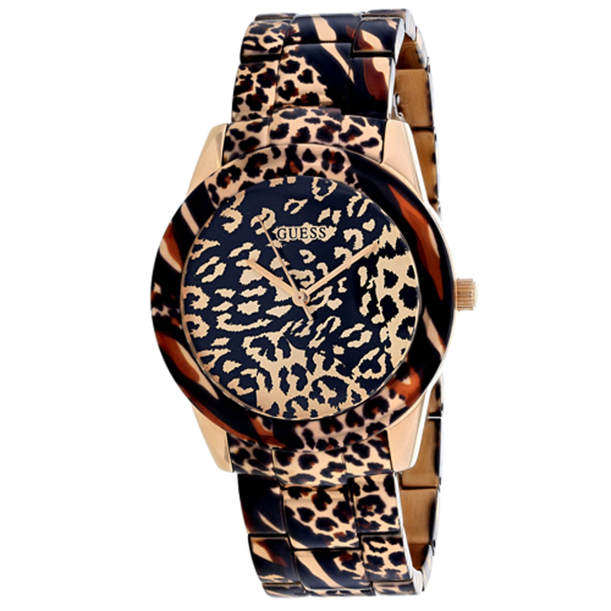 Guess Women S Classic Watch In Rose Gold And Black
