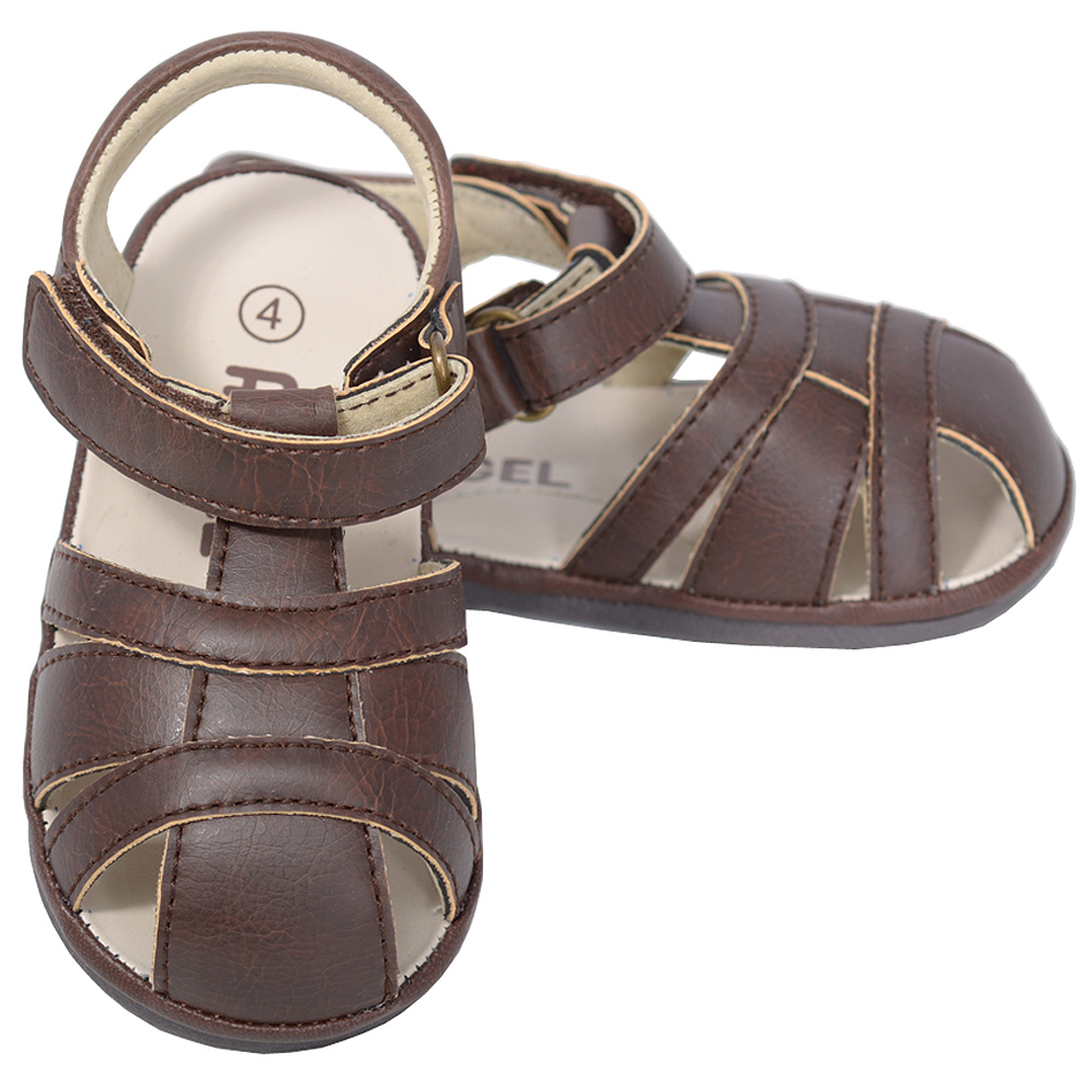 Angel Brown Fisherman Open Heel Sandals Baby Boy 1-Toddler Boy 7