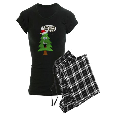 CafePress - Funny Merry Christmas Tree - Women's Dark Pajamas