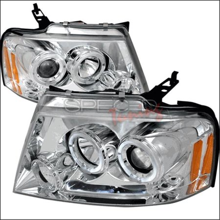Spec-D Tuning 2LHP-F15004-TM Halo LED Projector Headlights for 04 to 08 Ford F150, Chrome - 12 x 23 x 28