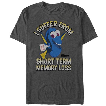 Finding Dory Men's Short Term Memory Loss T-Shirt - Finding Nemo Short Term Memory Loss