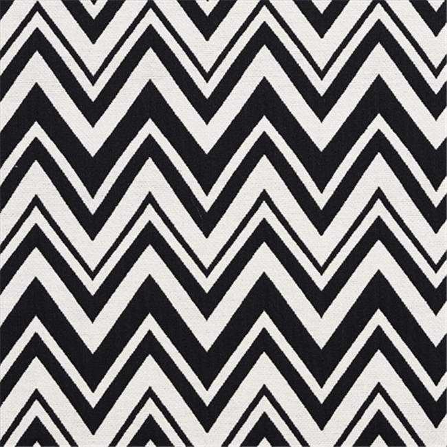 Designer Fabrics U0010C 54 in. Wide Black And White Zig Zag Chevron Upholstery Fabric
