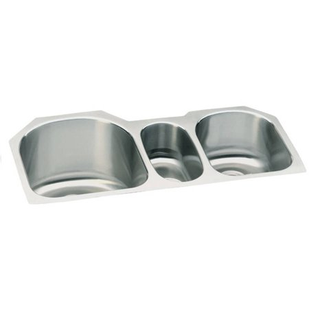 Elkay ELUH3920 Harmony Lustertone Stainless Steel Triple Bowl Undermount (Elkay Lustertone Collection)