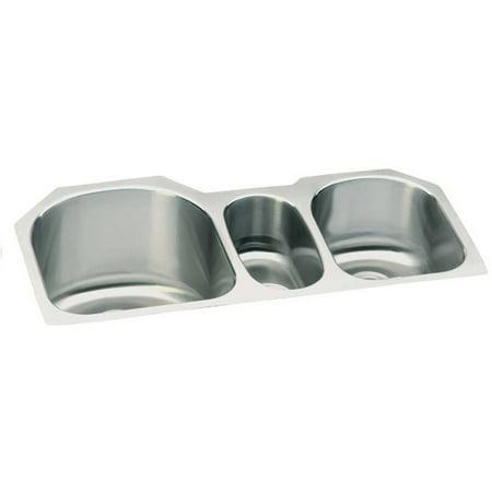 Elkay Lustertone Ada Sink Bowl (Elkay ELUH3920 Harmony Lustertone Stainless Steel Triple Bowl Undermount Sink)