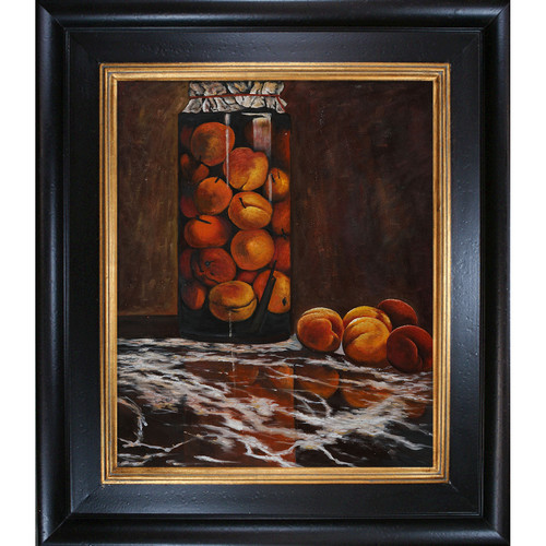 Wildon Home  Jar of Peaches by Claude Monet Framed Original Painting