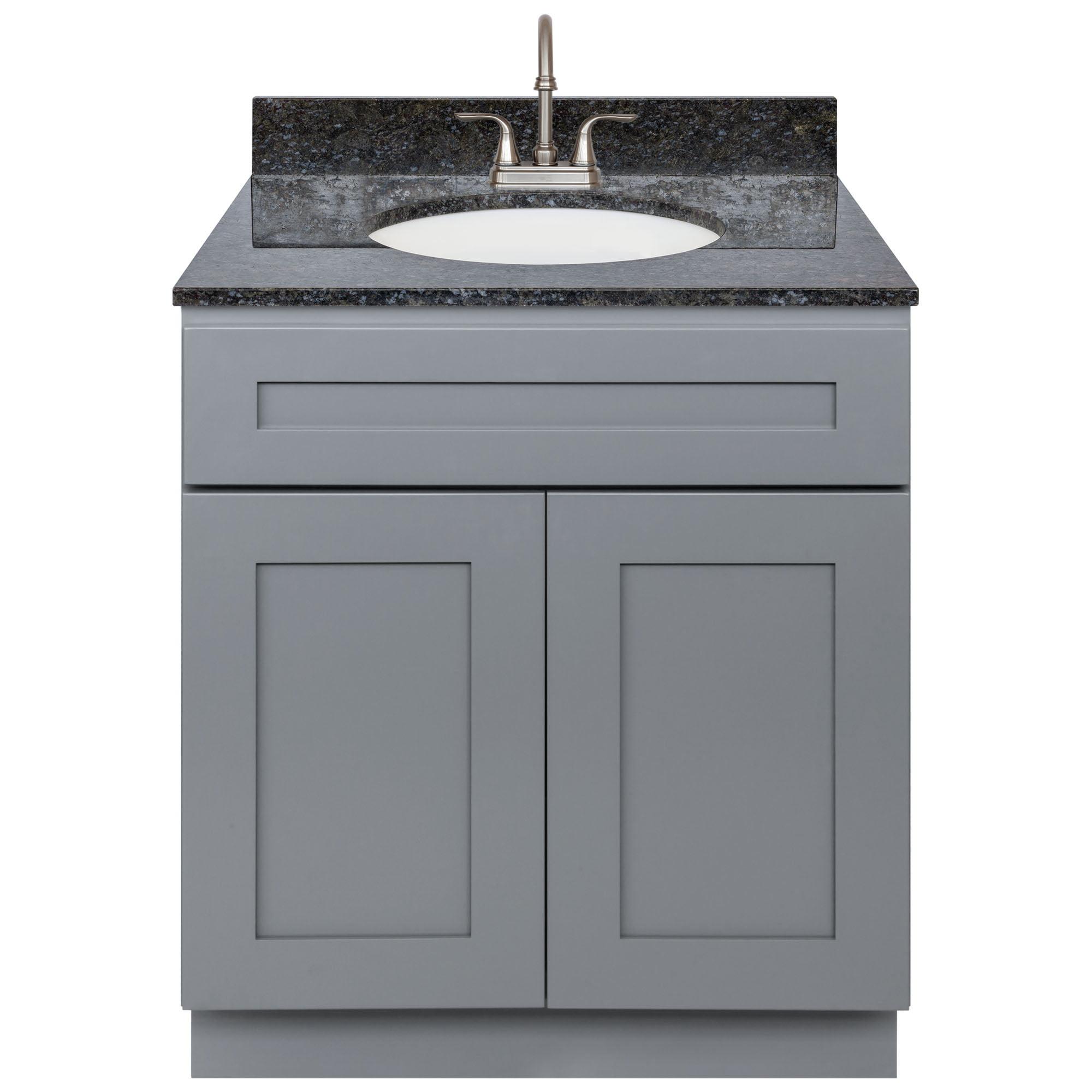 Cherry Bathroom Vanity 30 Blue Butterfly Granite Top Faucet Lb6b Walmart Com Walmart Com