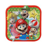 "7"" Super Mario Party Paper Square Plate, 8ct"