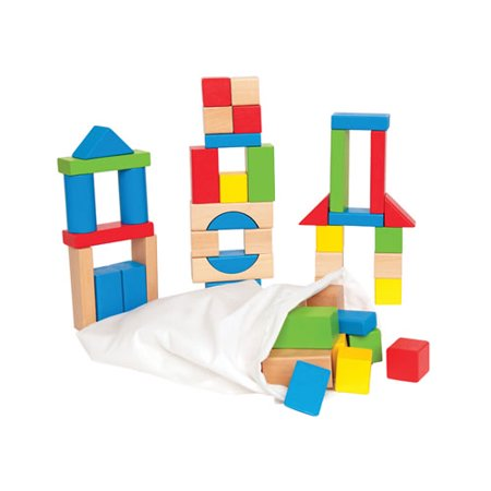 Maple Blocks Set - Natural and Color Maple Blocks (Set of 50)