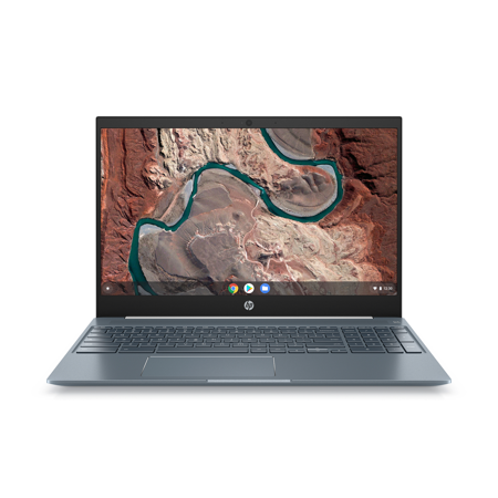 "HP Chromebook 15.6"" Full HD Touchscreen, Intel Core i3-8130U, 4GB SDRAM, 128GB eMMC, Audio by B&O, Ceramic White/Cloud Blue, Backlit Keyboard, 15-de0518wm"