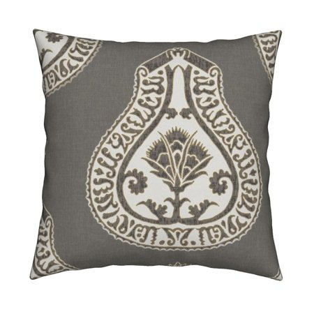 Medallion Coordinate Upholstery Throw Pillow Cover w Optional Insert by Roostery