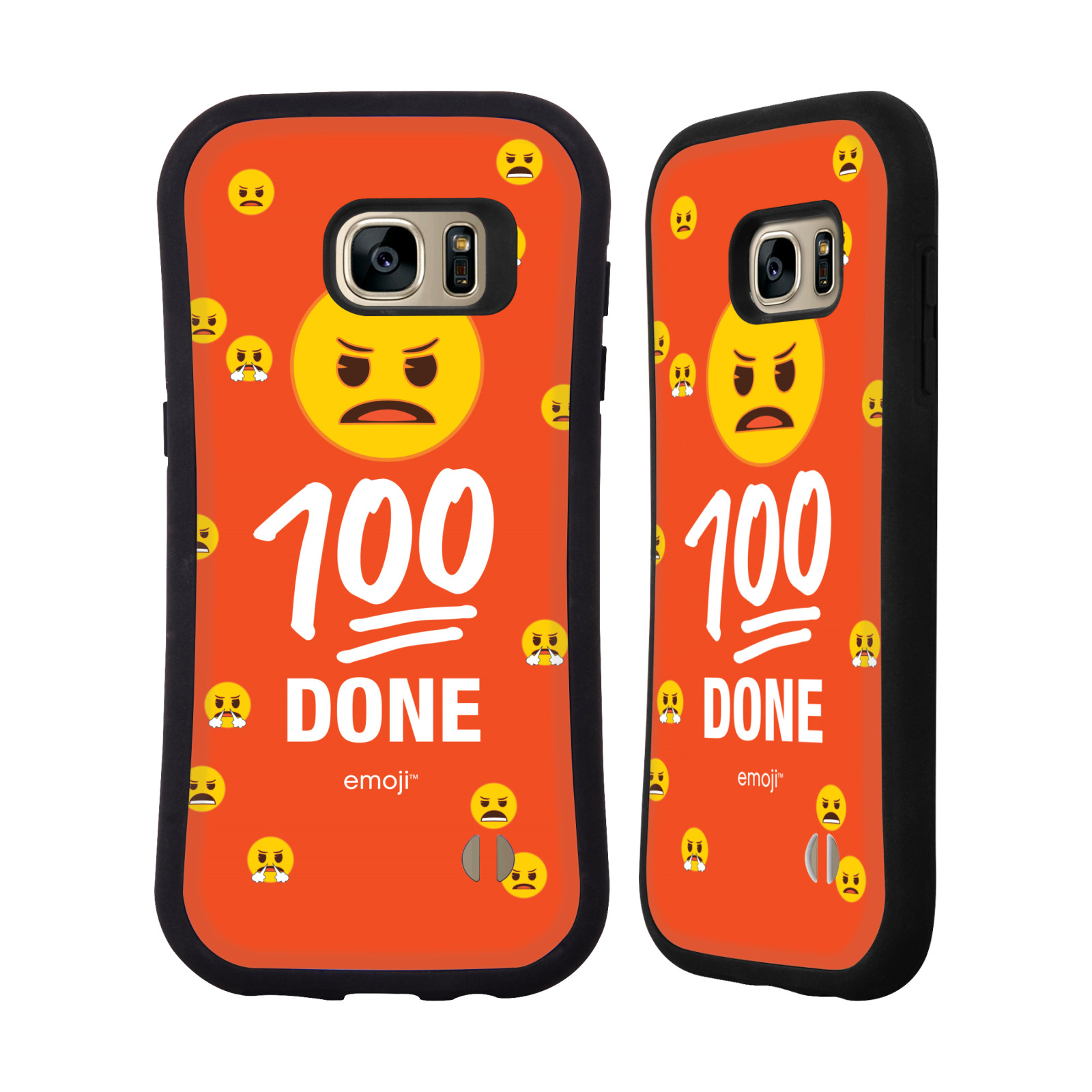 OFFICIAL EMOJI FLAT HYBRID CASE FOR SAMSUNG PHONES
