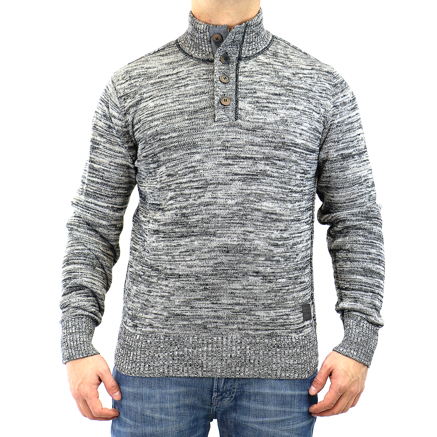 Buffalo Wiq Ov L/S 1/2 Mock Neck Sweater - Mens