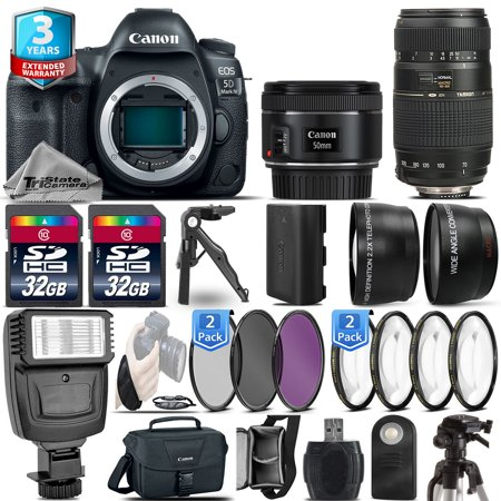 Canon EOS 5D Mark IV DSLR Camera + 50mm 1.8 + 70-300mm + 2yr Warranty- 64GB (Canon 5d Mark Iii Settings For Sports)