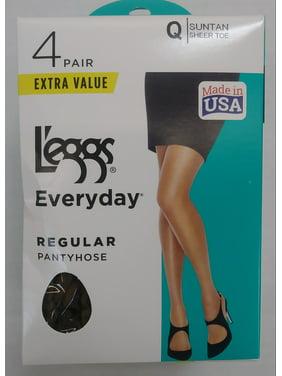 Hanes L'eggs Everyday Regular Pantyhose, 4 Pair