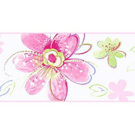 879429 Bohemian Floral Wallpaper Border