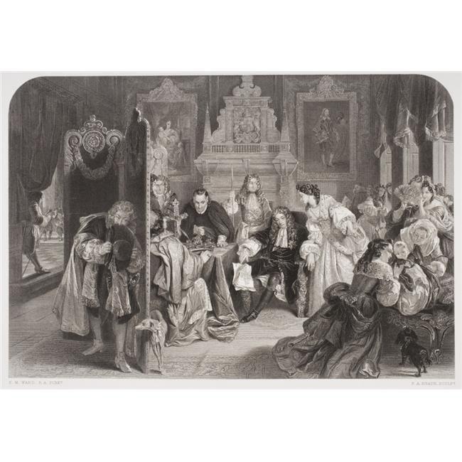 James II Aka Duke of York 1633-1701 King of Great Britain Receiving News of The Landing of The Prince of OrangeEngrave Poster Print, Large - 34 x 24 - image 1 de 1