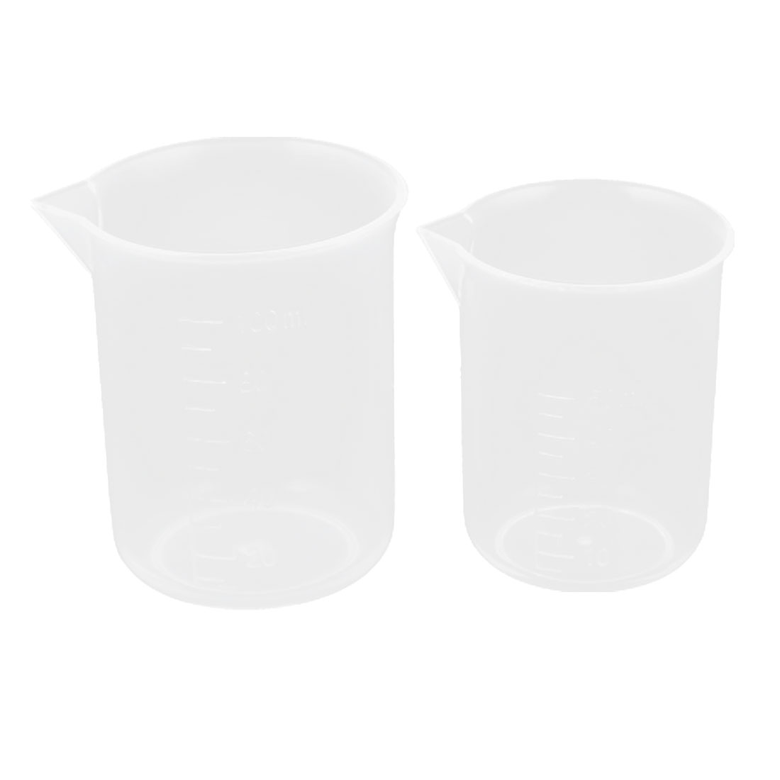 2 in 1 50ml 100ml Plastic Graduated Water Liquid Measuring Beaker Testing Cup