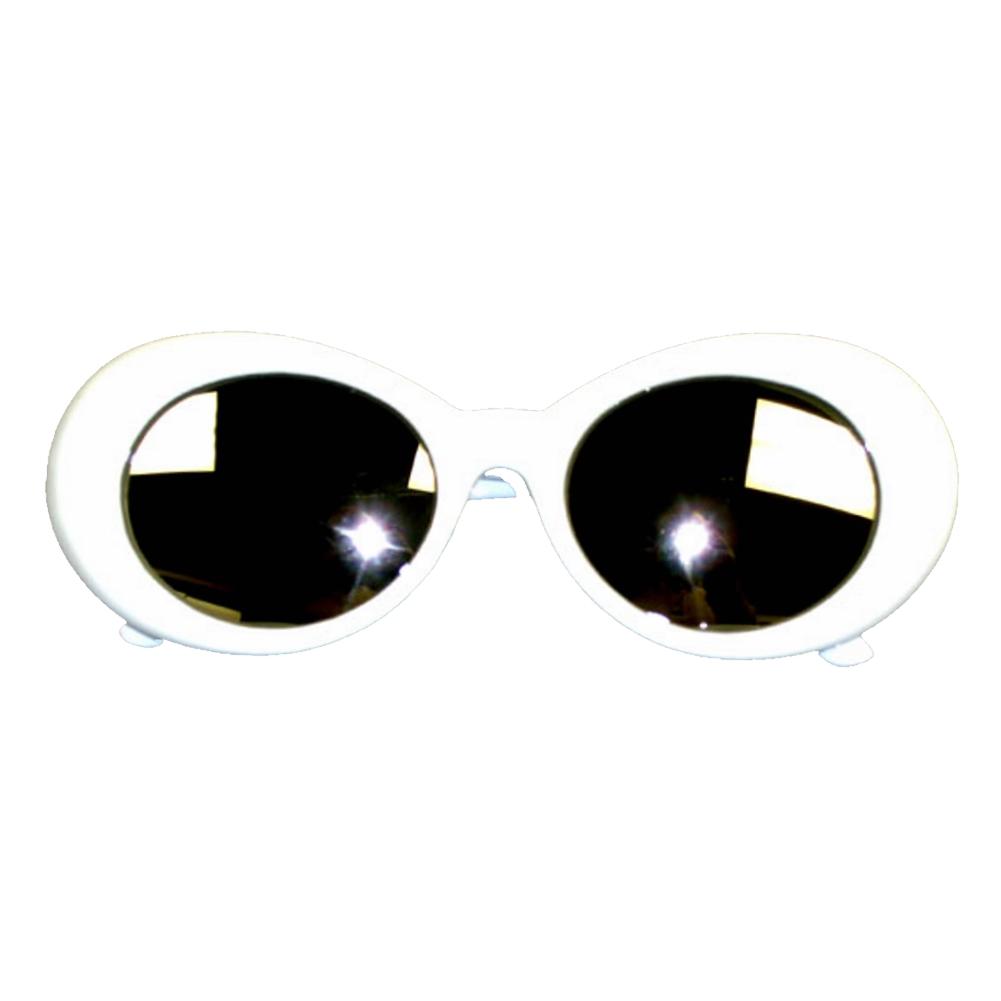MyPartyShirt Kurt Cobain Black Round Sunglasses