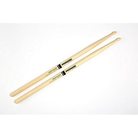 Promark Rebound 7A Hickory Wood Tip Drumsticks - Tear Drop -