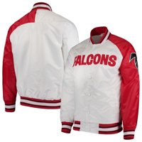 Atlanta Falcons Starter Start of Season Retro Satin Full-Button Varsity Jacket - White