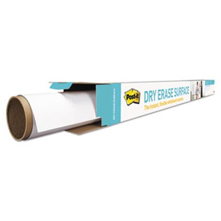 3M-Commercial Tape Div. DEF4X3 Dry Erase Surface With Adhesive Backing - White, 48 in.