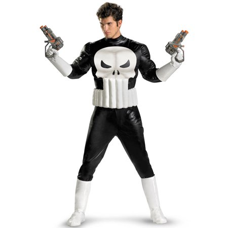 Marvel Adults Mens Punisher Muscle Costume