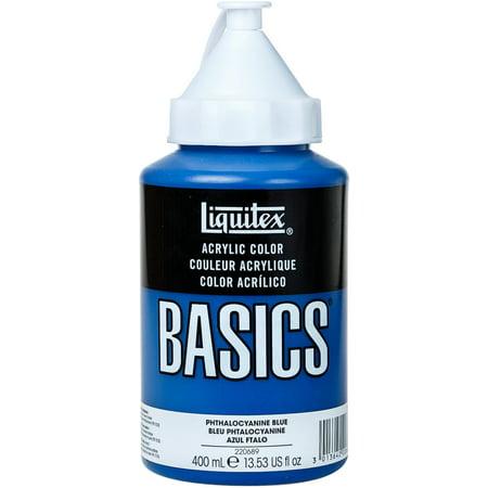 Liquitex BASICS Acrylic Paint 13.5oz-Phthalocyaninie Blue (Basics Acrylic Paint)