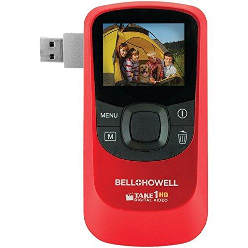 Bell & Howell T10HD-R Bell+howell T10hd-r 5.0 Megapixel 1080p Take1hd Digital Video Camcorder Wtih Flip-out Usb [red]