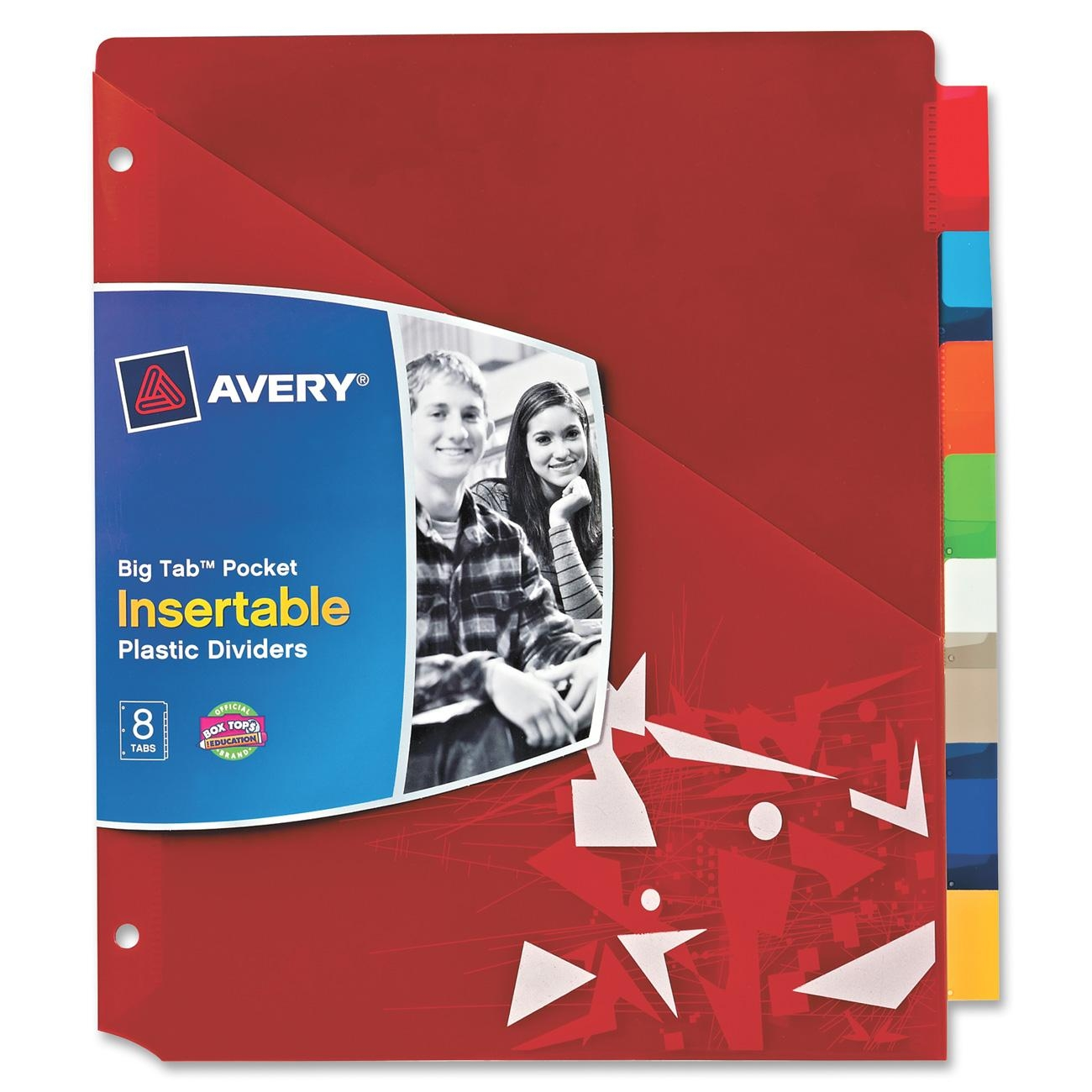 Avery Products Corporation 07717 Student Tuff Pocket Insertable Plastic Dividers Asst Asst