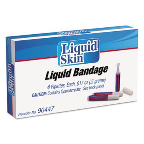 Acme United 90447 Liquid Bandage, 0.017 Oz Pipette, 4/box