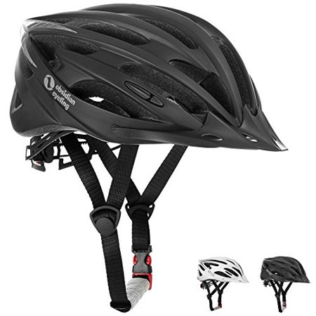 Airflow Bike Helmet [ Black / Medium - Large ] - for Adult Men and Women / Teen Boys and Girls - CPSC Certified Bicycle Helmets for Best Road, Urban, Street or Mountain (Best Mountain Bike For 800)