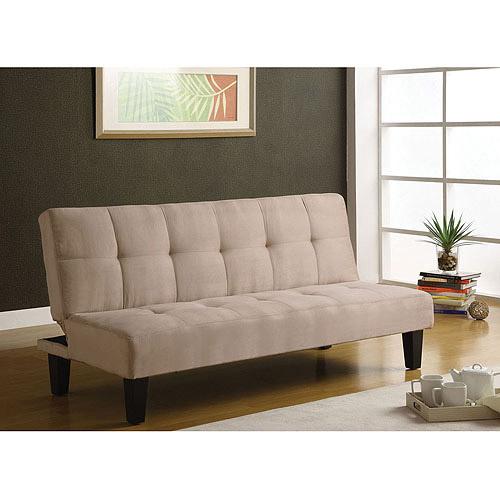 Emmet Futon Adjustable Sofa, Beige