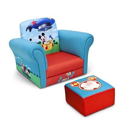 Delta Children Upholstered Chair with Ottoman, Disney Mickey Mouse ()