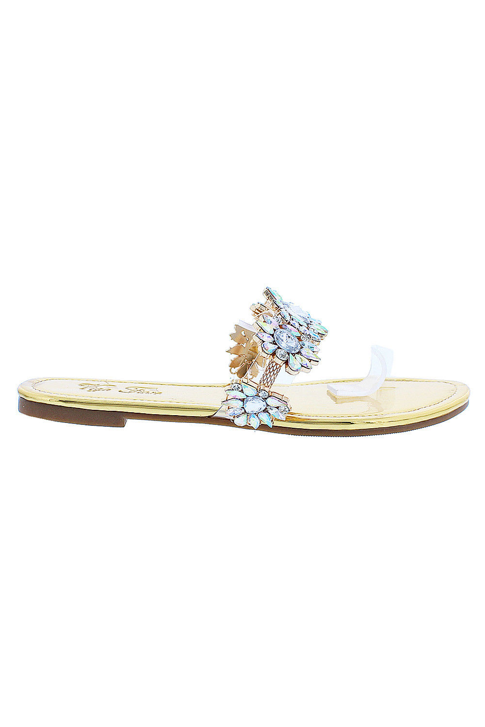 688b510bf702 Genx - Womens Summer Crystal Rhinestone Flip Flops Sandals AURORA-264-8.5- Black - Walmart.com