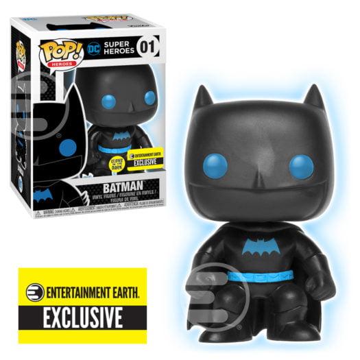 Funko Pop! DC Justice League: Batman Silhouette [GITD] #01 [Entertainment Earth]