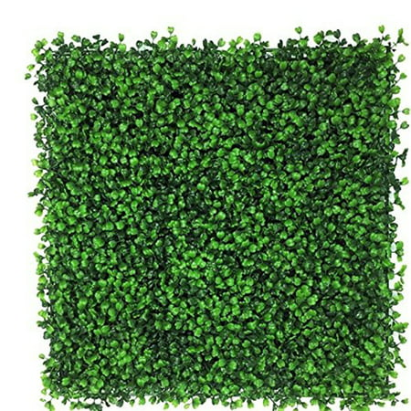 Artificial Boxwood Hedge, privacy hedge screen, UV Protected Faux Greenery Mats, boxwood wall, Suitable for Both Outdoor or Indoor, Garden, Backyard and Home Décor,20 x 20 Inch (72