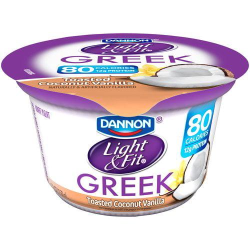 Dannon Light & Fit Greek Toasted Coconut Vanilla Nonfat Yogurt, 5.3 oz