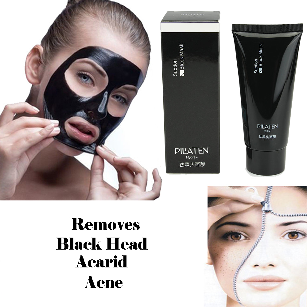 100 Pack PILATEN blackhead remover Deep Cleansing purifying peel acne black mud face mask