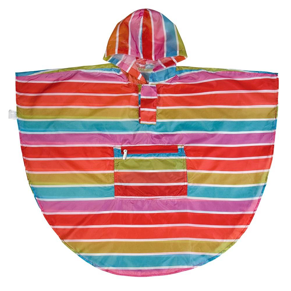 Bright Stripes Poncho (4-7)