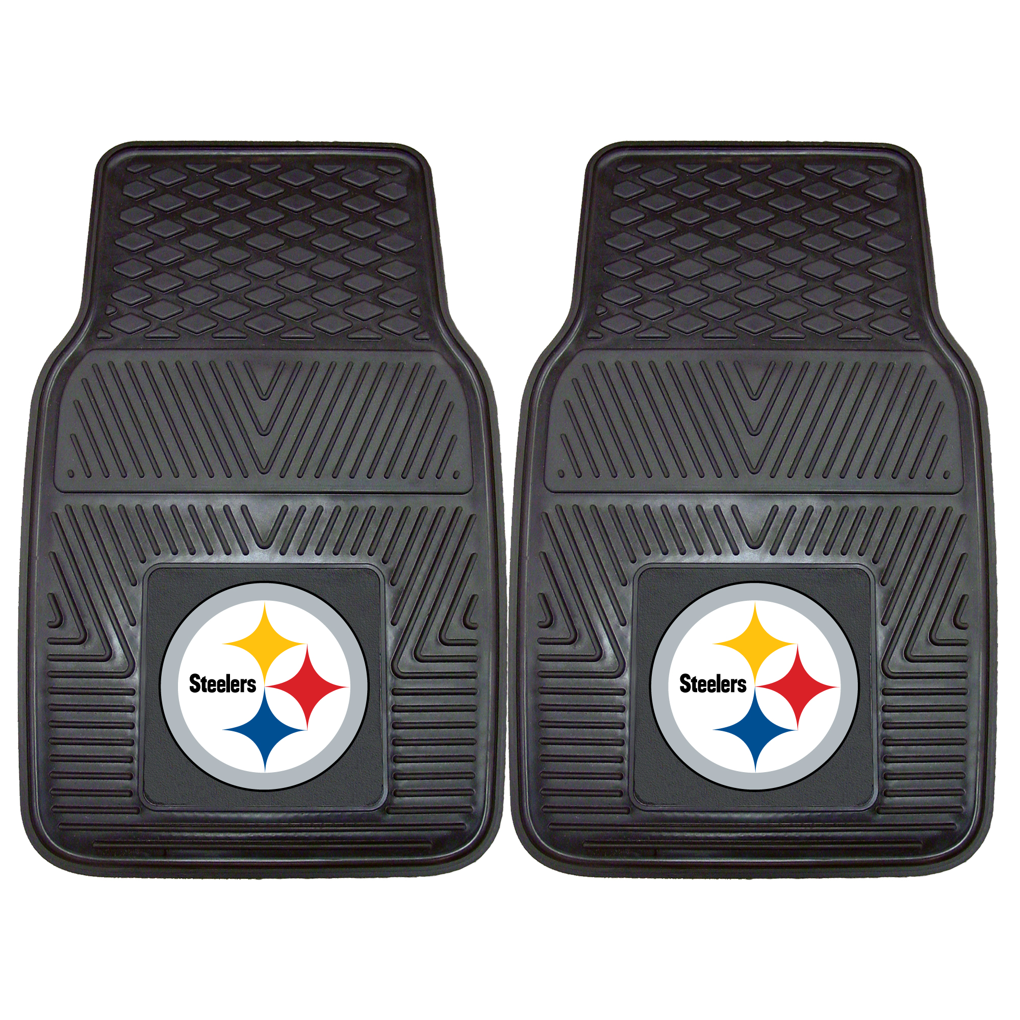 "Pittsburgh Steelers 2-pc Vinyl Car Mats 17""x27"""