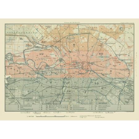Germany Map Of Cities.International Map Cities Near Berlin Germany Baedeker 1914