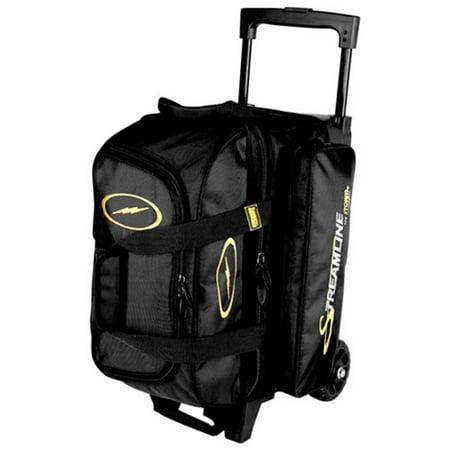 Storm Streamline 2 Ball Roller Bowling Bag- Black (Storm Bowling 2 Ball Bag)