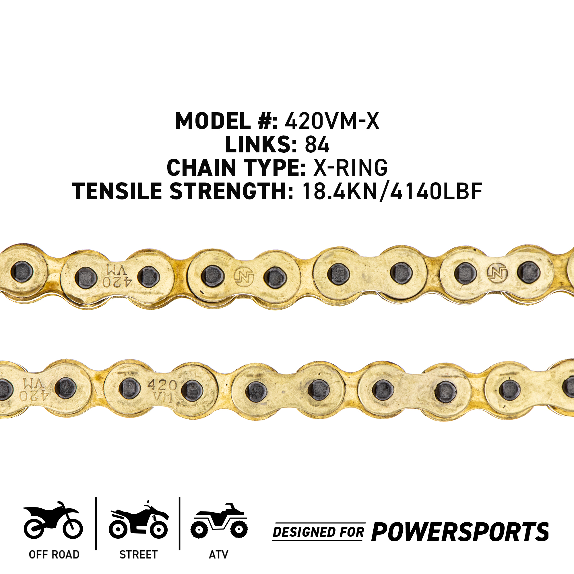 NICHE Drive Sprocket Chain Combo for Yamaha LB80 Chappy Front 15 Rear 32 Tooth 420HZ Standard 92 Links