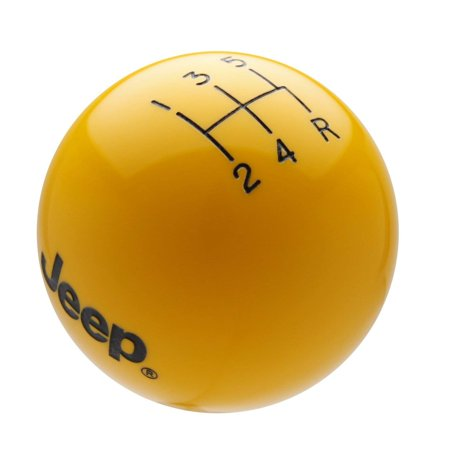 Speed Dawg M509JP-EBK-5RDR Shift Knob (Jeep Logo 5 Speed Reverse Lower Right Shift Knob with Engraved Pattern, Yellow/Black)