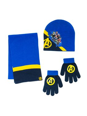 Avengers Hat, Glove, and Scarf 3 Piece Set