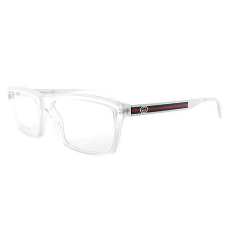 Gucci - Womens Eyeglasses 3517 HEY/14 Plastic Rectangle Crystal ...