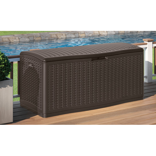 Suncast Blow Molded Herringbone 124 Gallon Resin Deck Box by Suncast