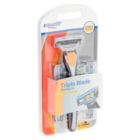 Equate Triple Blade Shaving Kit (Triple Blade Shaving System)