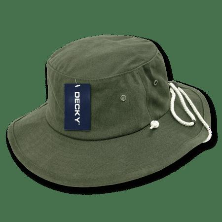 e1246d7c8dc Decky Original Aussies Drawstring Boonie Bucket Outback Hat Hats For Men  Women Olive - Walmart.com